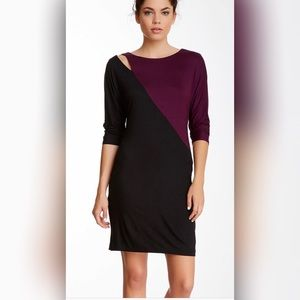 Trina Turk Iola Shift Dress Shoulder Cut Out 6